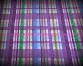 Purple Plaid Fabric, Seersucker Fabric, 1 Yard, Cotton Plaid, Spring Fabric, Purple Seersucker, Cotton, Purple and Pink, Cotton Fabric, Plai