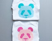 New Baby Gift, Panda Onesie, Baby Girl Clothes, Baby Boy Clothes, Pink Baby Present, Blue Baby Gift, Nursery Ideas, Twin Baby Gift