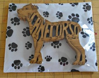 Cane Corso Handmade Wood Dog Puzzle