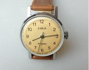 Ladies wristwatch Zarja, watch, mechanical watch, vintage watch, classic