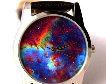 25% OFF ON SALE Wrist watch Nebula heart galaxy Hubble space photo, unisex watch, women watch, men wrist watch