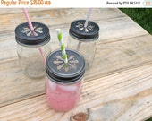 CLOSEOUT SALE 18 Daisy Cut Mason Jar Lids  for Candle making or Beverages