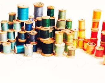 Sale! vintage spools of thread