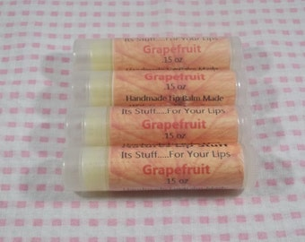 Lip Balm, Grapefruit Lip Stuff - Handmade Lip Balm, Natural Lip Balm, Flavored Lip Balm