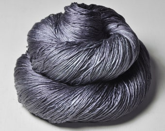 Gothic periwinkle OOAK - Silk Lace Yarn - Knotty skein