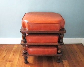 Mid Century Stackable Foot Stools
