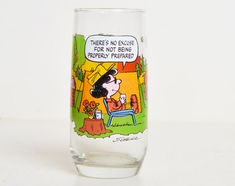 Vintage 80s Camp Snoopy Peanuts Drinking Glass McDonald's