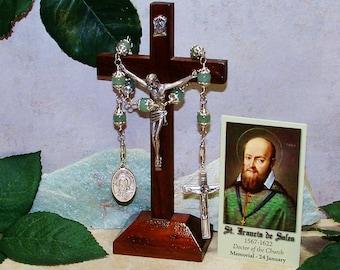 Unbreakable Catholic Chaplet of St. Francis de Sales - Patron Saint of Deaf People, Teachers and Writers
