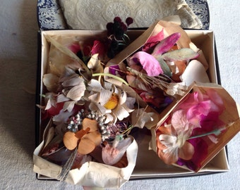 Antique Millinery Flowers Vintage Flower Making Supplies Petals & Blooms Vintage Wedding Corsage Something Old Rare
