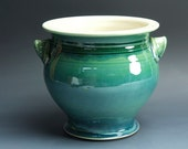Ceramic stoneware kitchen utensil holder jade green 3534