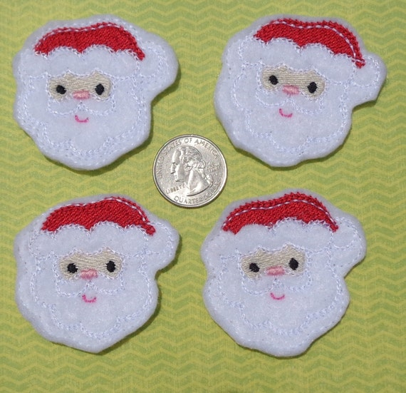 Basket Weaving Osi : Santa felties diy machine embroidery set of four
