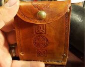 folding wallet with coin and card slots and money clip