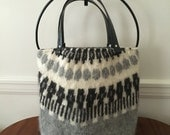Icelandic Felted Wool Tote Bag