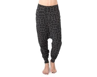 Code Low Crotch Pants - Baggy Pants - Drop Crotch Pants - Low Crotch Pants