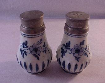 Delft Pottery Salt and Pepper Shaker Set