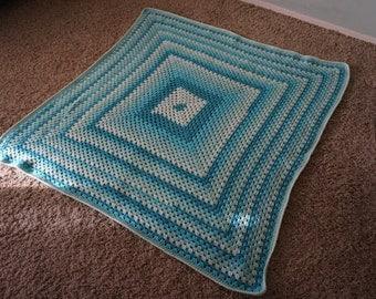 Ocean Waves Granny Square Blanket