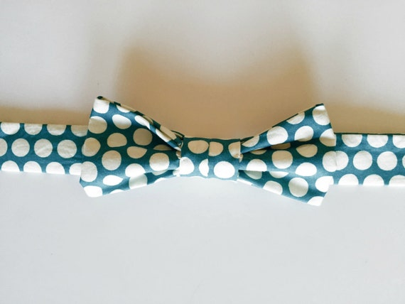 Baby Boy Bow Tie- Blue Circle