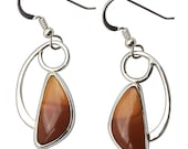Rare Bruneau Jasper Drop Earrings Set in Sterling Silver  ebrne2691