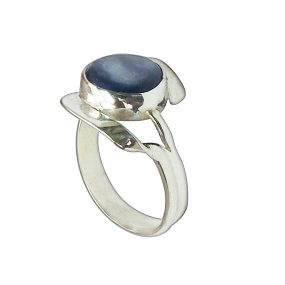 Kyanite Statement Ring set in sterling silver, Size 7-1/4  r725kyae2723