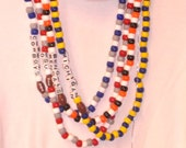 Order Your Team Colors or School Colors ... Jewelry Set ... show your support with a Customized necklace and bracelet