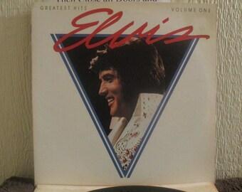 Reduced Price - Elvis Presley vinyl -Greatest Hits Volume I - Original - Vintage Record lp in NM- Condition.