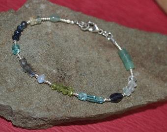 Gemstone Bracelet/Apatite/Labradorite/Peridot/Moonstone