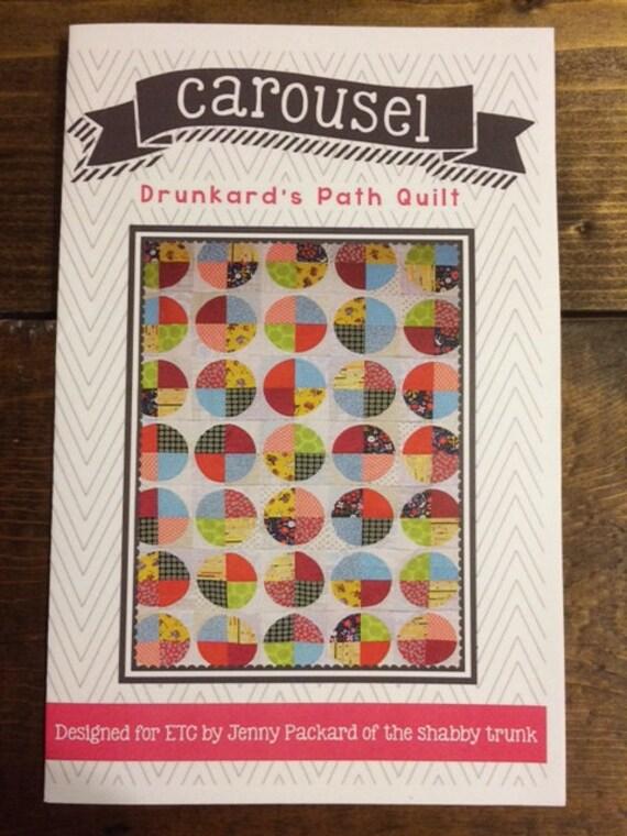 Stpq4 Carousel Quilt Pattern Paper From Shabbytrunk On Etsy Studio