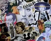 Ephemera. Ephemera pack.  Images of people. Collages, decoupage, scrapbook.  Collaging, decoupaging, scrapbooking.  Gift for artist.
