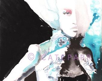 Mini Original Fashion Painting, Fashion Illustration, Small Fashion Painting, Fashion Art, Watercolor Fashion, Versailles