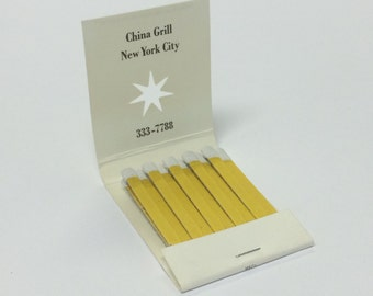 Tibor Kalman - M&Co - China Grill - Matchbook