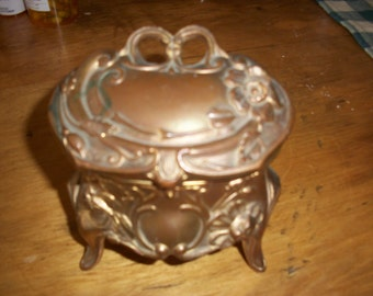 Jewelry Casket-Tinket Box--Fancy--Vintage--Collectible--Antique