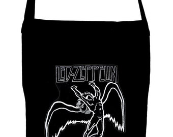 Led Zeppelin on Black Sling Cross Body Book Bag Rock n Roll 1977
