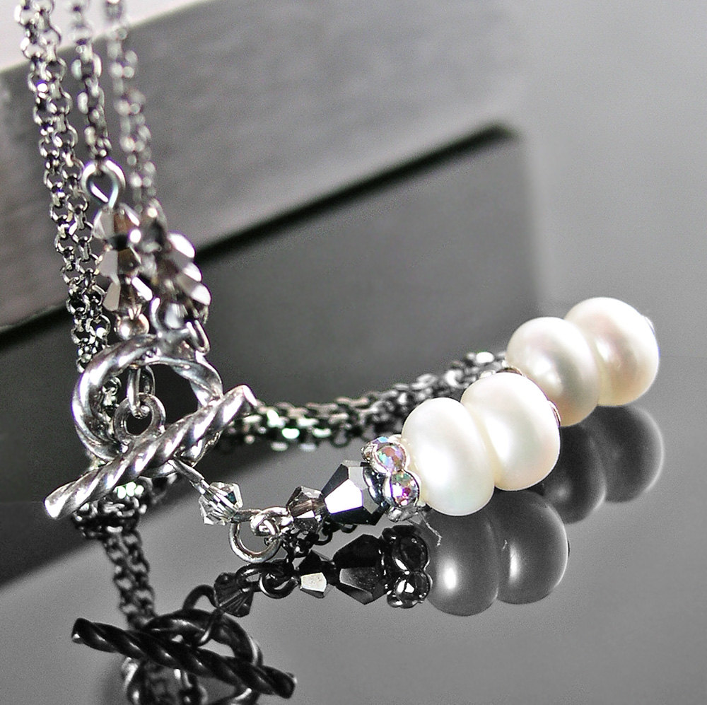 dainty white pearl necklace sterling silver necklace june