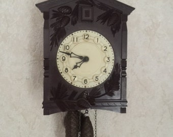 "Very old Soviet Union Cuckoo Wall Mechanical Clock Brand ""Majak"" made in USSR (CCCP) 1970s  RARE !!!!!!"