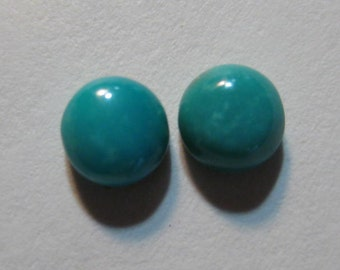 Hubei  Turquoise .......  6 mm rounds  ... 2 pieces  ...      B3189
