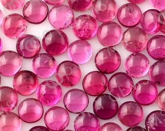 Dark Pink Tourmaline Cabochon 5mm Round - 1 cab, CTOU1SR5