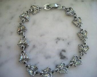 Butterfly Silver Tone Bracelet