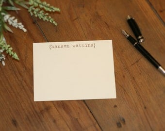 Personalized Parentheses Flat Card