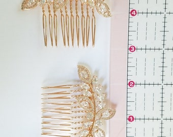Rose Gold Hair Accessories, Rose gold Wedding Hair Piece, Crystal Hairpin, Rose Gold Bridal Hair Comb, Wedding Tiara {CECILIA Haircomb}