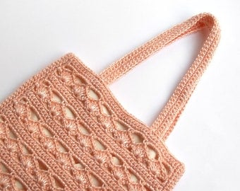 SALE!! 45% OFF!! Pink crochet gala handbag
