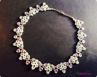 Sveva Necklace tutorial | how to make Sveva necklace with Arcos and Minos beads