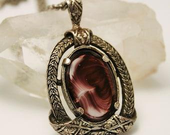 Miracle pendant. Vintage Scottish pendant. Purple pendant