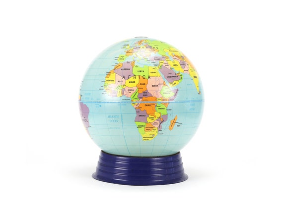 vintage large simplified cram's world globe