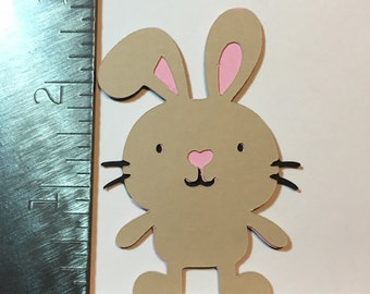 Brown bunny die cut