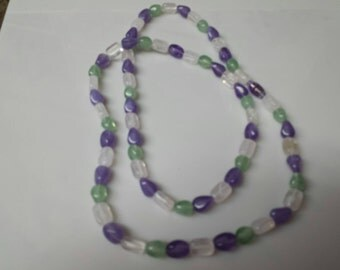 Avon Tourmaline Impressions  beaded  Necklace 1982