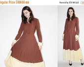 ON SALE 65% ends May 1st 1950s Faux Fur Dress - Vintage 50s  Dress - The Zhivago  Dress  - 8064