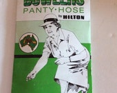 Vintage 1980s Stockings Panty Hose Lady Bowlers Panty-Hose By Hilton Beige Deadstock NOS Never Worn