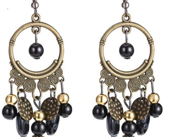 Retro Boho Chandelier Earrings/Chandelier Earrings/Drop Earrings