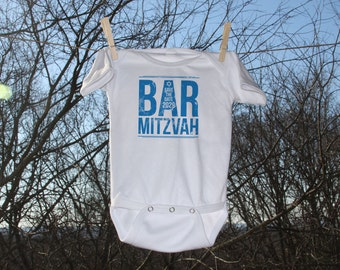 Bar Mitzvah Save The Date New Baby Bodysuit