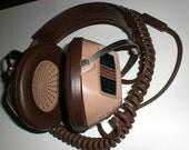 Stereo headphones, Koss, Realistic, Radio shack, Old school, 70's